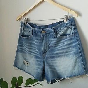 Destroyed Levi's Straight Denim cutoffs shorts